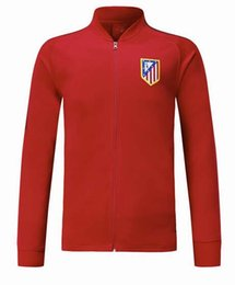 Wholesale F Train - thai quality 17 18 Atletico jacket Training suit kits 2017 GRIEZMANN F TORRES KOKE SAUL CARRASCO Madrid football jacket