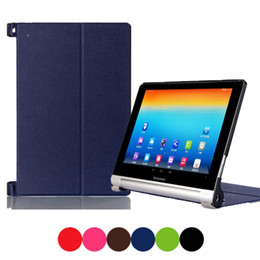 Wholesale Hp Books - 8 Colors universal Magnetic Ultra Slim PU Leather Case Smart Protective Cover Pro for Lenovo YOGA 2-830F 8'' Tablet e-Books PC
