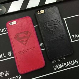 Wholesale Diamond Logo Iphone - US Superman Diamond S logo for iphone6 Case Pu Letters Phone Cases For iPhone 6 6s 6plus 7 plus 4.7inch 5.5inch