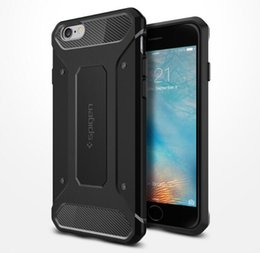 Wholesale Wholesalers Sgp - Newest SGP Rugged Armor Case Soft TPU Carbon Fiber Shockproof Shell for iPhone 7 6S 6plus 5S SE Samsung S7 S6 Edge Plus Note7 5 with Retail