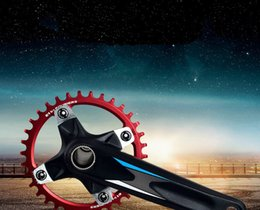 Wholesale Chain Wheel Crank - 32T-36T-34T-40T-38T single speed Mountain bike crankset cycling Road track bicycle crank set chain wheel