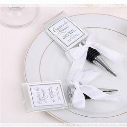 Wholesale Wedding Souvenir Wine - High Quality Crystal Photo Frame Bottle Stopper Wine Stopper Wedding Favor Souvenirs