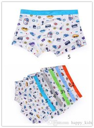 Wholesale Kid Underwear Cartoon Characters - Kids Boxer Hot Boys Cartoon Cars Printing and Breathable Underwear Fashion Children Comfortable and Wrap Underwear