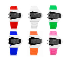 Wholesale Wholesale Jelly Watches For Kids - 2016 Fashion Cool Outdoor Sports Watch Jelly Silicone Rubber LED Touch Screen Digital Watch for Men Lady Kids Students'S