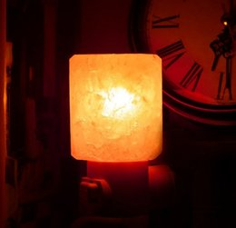 Wholesale Natural Led Candle - Mini Hand Carved Natural Crystal Himalayan Salt Lamp night light (cylinder-shaped) Item Weight:7.7 Product Dimensions
