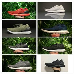 Wholesale Size 45 Mens Shoes - Ultra Boost Uncaged Shoes Triple Black White Red Parley Mens Womens Boosts Size EU36-45 Top Quality Real Boost Wholesale Drop Shipping