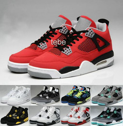 Wholesale Hot Shoe Cheap For Men - Free Shipping Basketball Shoes Cheap Top Quality Retro 4 Oreo fear Cement Sneaker Sport Shoe,For Online Hot Sale Size 8 - 13