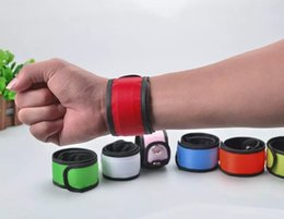 Wholesale Wrist Straps Bracelet Light - Nylon LED Sports Slap Wrist Strap Bands Wristband Light Flash Bracelet Glowing Armband Flare Strap For Party Concert Armband ZD055C