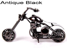 Wholesale Handmade Metal Motorcycles - Cool DIY Metal Handmade Iron Vintage Motorcycle Model Kit Excellent Send relatives to send a friend as a Christmas gift M30