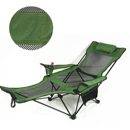 Wholesale Green Picnic - Multi Function Chairs Folding Chair Green Color Lying Down Mixed Color Nap Lounge Chairs For Outdoor Camping Picnic BBQ Accompanying Chair