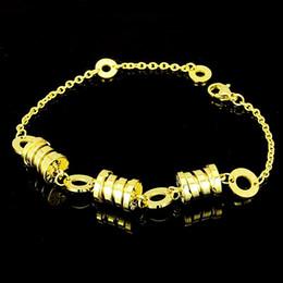 buchstaben k armband Rabatt Titan Stahl, Titan Stahl Schmuck Großhandel T Brief von acht Armband mit 18 k Gold Frau Figur 8 T Armband haben einen Anzug