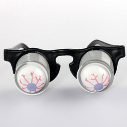 Wholesale Eyeball Glasses - Prank Joke Toy Funny Horror Pop Out Eyes Glasses Dropping Eyeball Glasses for Halloween Costume Parties Joke Gift Pop Out Eye Glasses