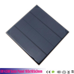 Panel solar policristalino 6v online-6V 4.5W 720mA Mini Panel de células solares monocristalino policristalino 6V 5W Batería de celda solar Cargador de panel para kits solares de bricolaje