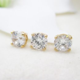 Wholesale Diamond Bead Spacer - 24K rose gold plated Zircon Beads CZ diamond Zircon Pierced spacer bead small cube Beads 6*4mm 10pcs DIY jewerly accessories