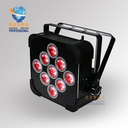Wholesale Led 5in1 - 10X Rasha Factory Panta 9*15W 5in1 LED Par Projector RGBAW Battery Operated LED Flat Par Light Wifi Stage Light
