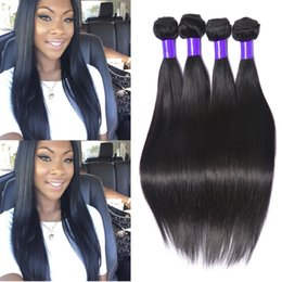 Wholesale Hair Wefts Bulk - 4 Bundles Brazilian Straight Hair Wefts High Quality Grade 8A Unprocessed Brazilian Hair Weave Bulk 100g Bellqueen Hair Products