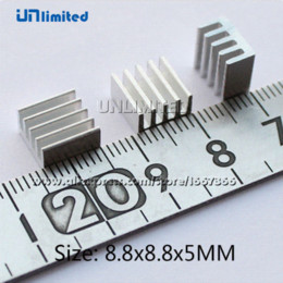Wholesale Wholesale Ram Prices - 50% Off Price and Free Shipping 50pcs Lot 8.8*8.8*5 mm Ram Cooler Heatsink Chipset Aluminum for 3D Printer Cooling