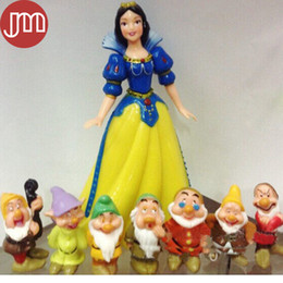 Wholesale Seven Dwarfs Toys - New Snow White and the Seven Dwarfs Action Figure Toy Set Anime Collection 3-13cm Kid Toy Doll Brinquedos Miniatures Minifigures