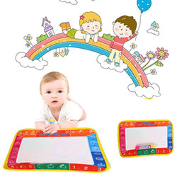Wholesale Baby Toys Products - Write Draw Water Canvas Magic Doodle Mat With Brushes 29X19cm Baby toys