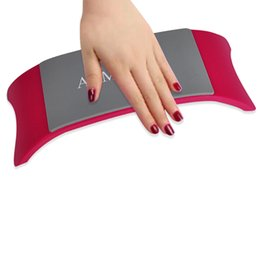 Wholesale Hand Rest Pillow - Manicure Hand Holder Nail Art Cushion Pillow Advanced Sillicone Cushion Nails Arm Rest Acrylic Rubber Arm Rest Pad Tool