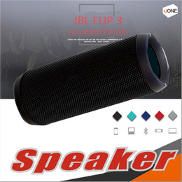 Wholesale Flip Speakers - New Flip 3 Fashion Designed Mini Portable Bluetooth Waterproof speaker with FreeShipping pk charge 2 pulse 2 CHR2+