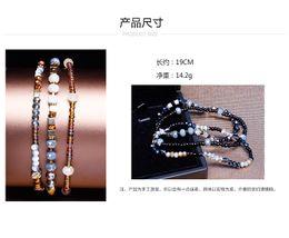 Wholesale Glass Ceramic Materials - Fashion bracelet for women European style glass beaded bracelet sets of environmentally friendly materials faceted bracelet