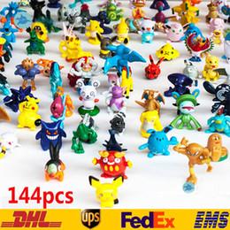 Argentina 144 UNIDS Monster Pikachu Juguetes PVC Dibujos Animados Cosplay Películas Figura de Acción Decoración Muñeca Juguetes Niños Niños Regalos 3 CM SZ-T02 Suministro
