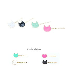 Wholesale Black Barrette Hair Clips - Color Cats Hairgrips hairwear for Women & girls Multi-color Cats hair clips New Fashion design cute hairpins hair Jewelry for gifts