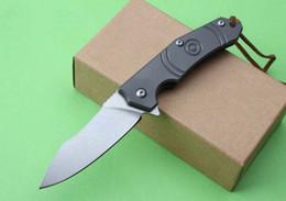 Wholesale Folding Hunter Knife - Small Thomas hunter folding camping knife D2 sharp blade Titanium handle ball bearings smooth opening knife EDC tools