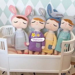 baby doll games video Promo Codes - 2016 New Metoo Plush Dolls Kids girls Boys lovely stuffed bunny INS rabbits toys babies gifts Infant accompany sleep doll