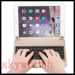 Wholesale Tablet Metal Slim - Plug-in Metal Aluminum Alloy Ultra-thin Bluetooth Keyboard For Ipad Pro 9.7 ipad mini 2 3 4 Wireless Keyboard With Retail Package