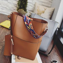 Wholesale Boston Bag Strap - Women Shoulder Bags With Colorful Strap Accessories Fashion Female Large Capacity Handbags With Purse PU Leather Totes