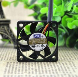 Wholesale 4cm Fan - AVC 40*40*10 12V 0.11A 4cm CPU DS04010B12H 3 wire double ball big air volume fan