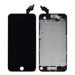 Wholesale Iphone Display Home Button - Grade AA+++ white black lcd display touch screen with digitizer home button front camera replacement part assembly for iphone 4.7 6s
