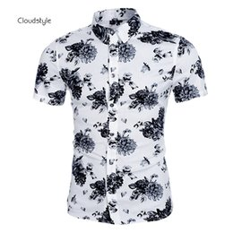 Wholesale Exclusive Cotton Shirts - Wholesale-Exclusive Debut China Style Printing Shirt Summer Short Sleeve Fitness Fashion Mens Shirts Brand Famous Luxury Vetement Homme