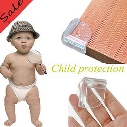 Wholesale Arc Sticker - Baby Safety Kids Care Arc Shaped Corner Guards Protector Guards Cover Table Anti-collision Edge Cushion with Sticker YYA404
