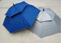 Wholesale Umbrella Anti - Rain Gear Summer New creative Sun Rain solid double windproof Anti-UV umbrellas hat fishing hat Portable