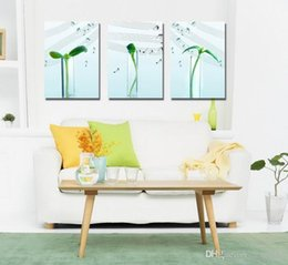 Wholesale Music Canvas Painting - Contemporary Sprout And Music Culture Giclee Print On Canvas Wall Art Home Decor Set30423