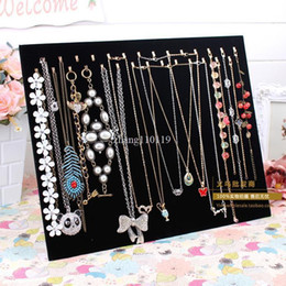 Wholesale Jewelry Props Displays - Fashion Double 28 hook black velvet necklace plate bracelet pendant necklace display rack jewelry holder accessories props