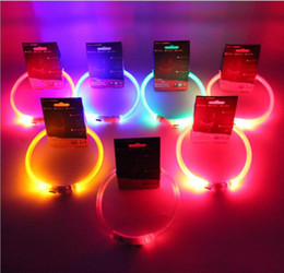 Wholesale Glowing Cat Collars - LED Dog Collar USB Rechargeable Pet Supplies Glowing At Nigh Collar Lead For Small Medium Large Size Pets Cats Dogs Multi Colors And Sizes