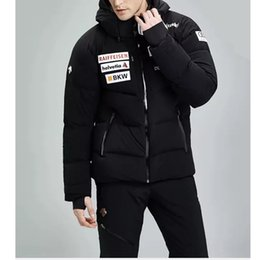 Wholesale Men Down Ski Jacket - 17FW DESCENTE Down Jacket Windproof Waterproof Coats Couple Ski Suit Winter Thicker Outerwear Sports Fashion Down Jacket HFLSYRF001
