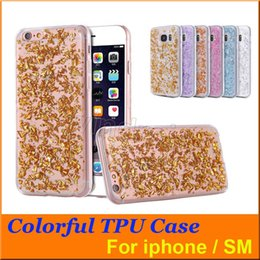 Wholesale Sequin Galaxy - 2016 Colorful Bling Paillette Sequin Skin Clear soft TPU Case gel back cover For Galaxy S6 S7 Edge Iphone 6 Plus 5 SE cheapest DHL 300pcs