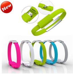 Wholesale 22CM Magnetic Suction Creative Wristband Bracelet Charger Cable Micro USB Data Sync Cord High Speed for Samsung S7 HTC Blackberry Note