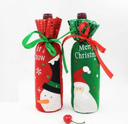 Wholesale Table Covers Cheap Wholesale - Red Wine Bottle Covers christmas table decorations Articles Christmas Gift Bags Wine Packaging christmas Cheap decorations