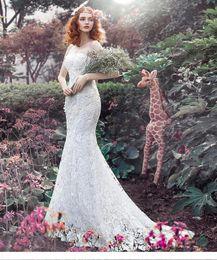 Wholesale Elegant Bridal Dress Wedding Wear - Mermaid Wedding Dresses Online Vintage Strapless Sweep Train Lace-up Sexy Bridal Wear Elegant Wedding Gowns 2016 Custom Made
