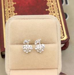 Diamant Boucle d'oreille avec plein de diamant pendentif de pomme, noble délicat et beau pour les femmes, la livraison gratuite et de haute qualité ? partir de fabricateur
