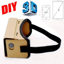 Wholesale Vr Reality - Google Cardboard VR Box DIY VR Virtual Reality 3D Glasses Magnet VR Box Controller 3D VR Glasses for iPhone Android Samsung