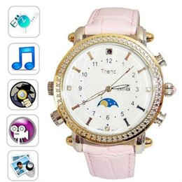 Wholesale Spy Wrist Watches - 8GB female wrist Watch Camera woman waterproof Weather resistant MP3 detective spy hidden mini watch camera