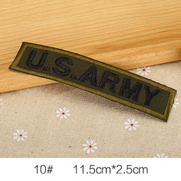 Wholesale Iron Patches Badge Flag - U.S. Army Military INSIGNIA FLAG Badge Iron on Embroidered patch Gift shirt bag trousers coat Vest Individuality