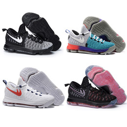 Wholesale Cool Shoes Free Shipping - Free Shipping Cheap KD 9 Sneakers Mens USA Mic Drop Oreo Pre-Heat Cool Grey Zoom Air Basketball Shoes